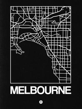 Black Map of Melbourne by NaxArt