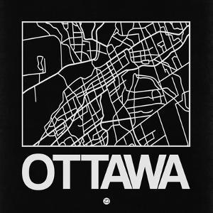 Black Map of Ottawa by NaxArt