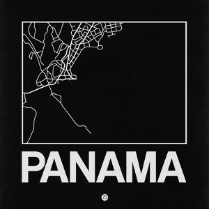 Black Map of Panama by NaxArt