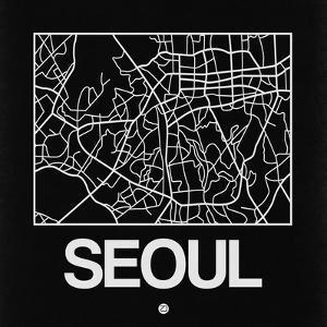 Black Map of Seoul by NaxArt
