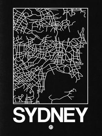 Black Map of Sydney by NaxArt