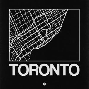 Black Map of Toronto by NaxArt