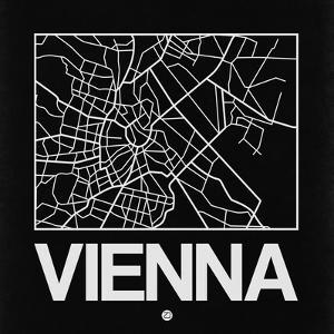 Black Map of Vienna by NaxArt