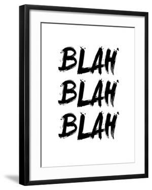 Blah Blah Blah White by NaxArt