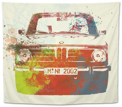 Bmw 2002 Front Watercolor 2 by NaxArt