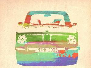 Bmw 2002 Front Watercolor 3 by NaxArt