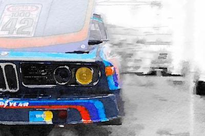 BMW Lamp and Grill Watercolor by NaxArt