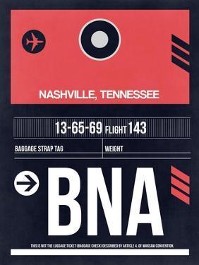 BNA Nashville Luggage Tag I by NaxArt