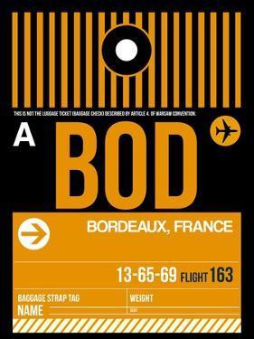 BOD Bordeaux Luggage Tag II by NaxArt
