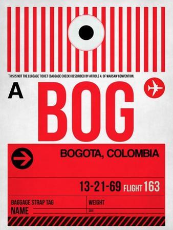 BOG Bogota Luggage Tag I by NaxArt