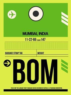 BOM Mumbai Luggage Tag I by NaxArt