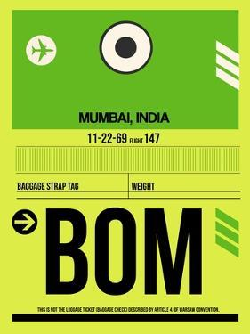 BOM Mumbai Luggage Tag I by NaxArt