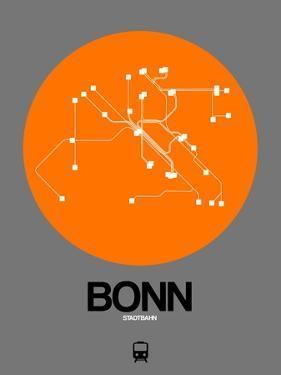 Bonn Orange Subway Map by NaxArt