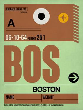 BOS Boston Luggage Tag 1 by NaxArt
