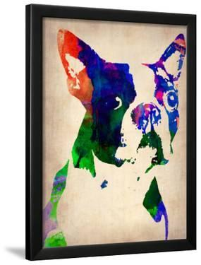 Boston Terrier Watercolor by NaxArt