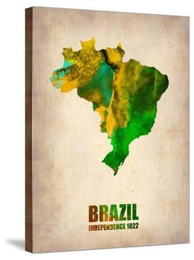 Brazil Watercolor Map by NaxArt