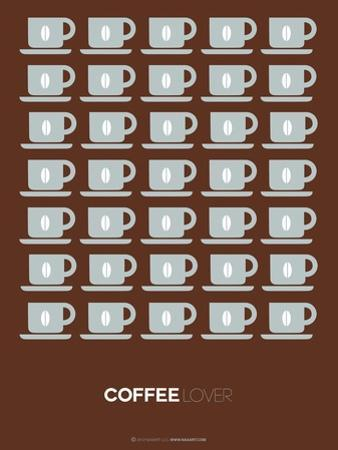 Brown Coffee Poster by NaxArt