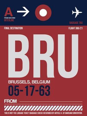 BRU Brussels Luggage Tag 2 by NaxArt