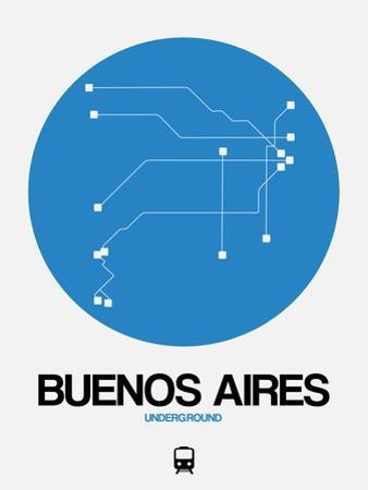 Buenos Aires Blue Subway Map by NaxArt