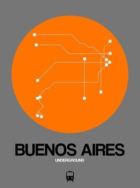 Buenos Aires Orange Subway Map by NaxArt