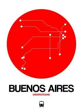 Buenos Aires Red Subway Map by NaxArt