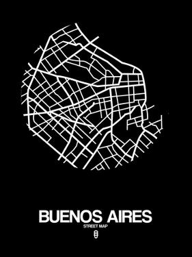 Buenos Aires Street Map Black by NaxArt
