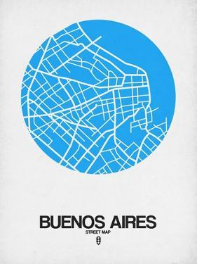 Buenos Aires Street Map Blue by NaxArt