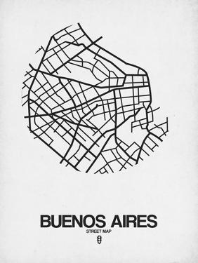 Buenos Aires Street Map White by NaxArt