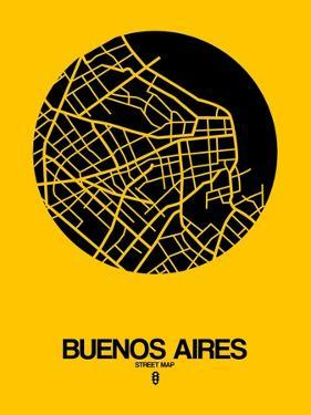 Buenos Aires Street Map Yellow by NaxArt
