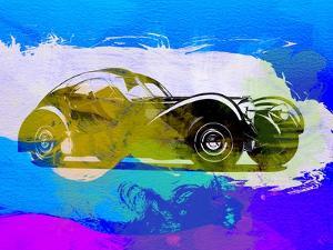 Bugatti Atlantic Watercolor 2 by NaxArt