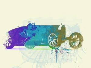 Bugatti Type 35 R Watercolor by NaxArt