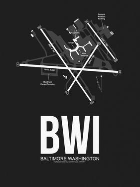 BWI Baltimore Airport Black by NaxArt