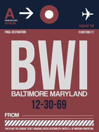 BWI Baltimore Luggage Tag 2 by NaxArt