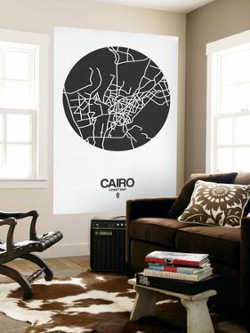 Cairo Street Map Black on White by NaxArt