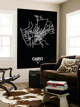 Cairo Street Map Black by NaxArt
