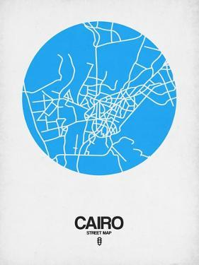 Cairo Street Map Blue by NaxArt