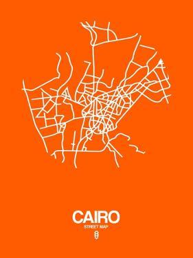 Cairo Street Map Orange by NaxArt
