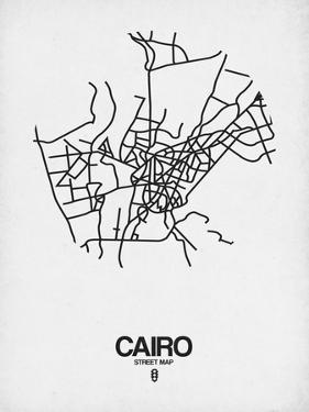 Cairo Street Map White by NaxArt