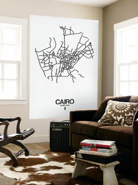 Cairo Street Map White by NaxArt