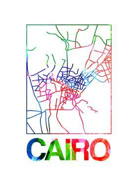 Cairo Watercolor Street Map by NaxArt