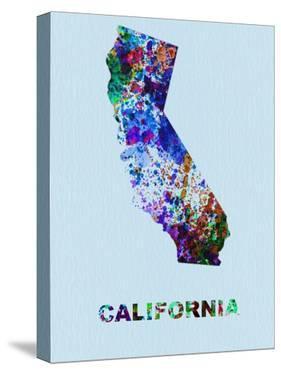 California Color Splatter Map by NaxArt