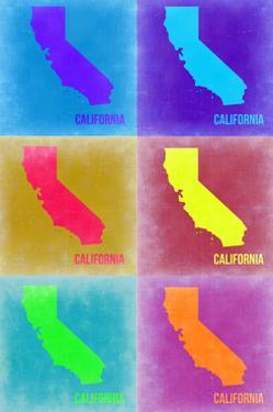 California Pop Art Map 2 by NaxArt