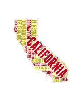 California Word Cloud Map by NaxArt