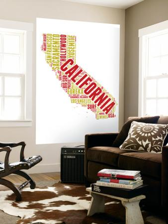 California Word Cloud Map by NaxArt