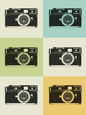 Camera Grid Poster by NaxArt