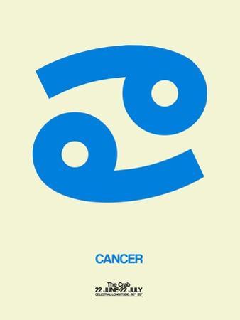 Cancer Zodiac Sign Blue by NaxArt