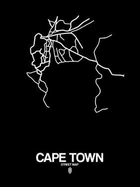 Cape Town Street Map Black by NaxArt