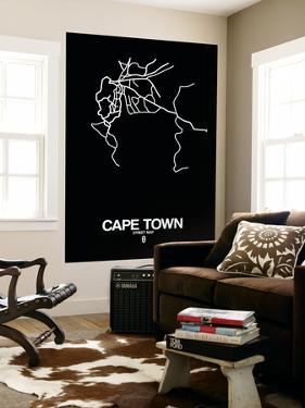 Cape Town Street Map Black by NaxArt