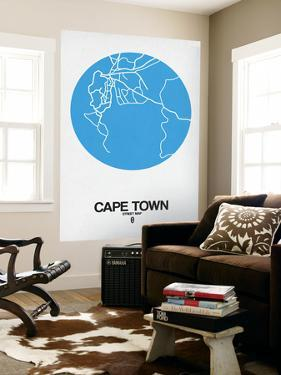 Cape Town Street Map Blue by NaxArt