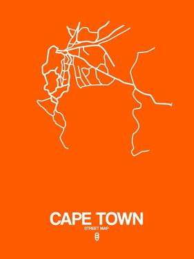 Cape Town Street Map Orange by NaxArt